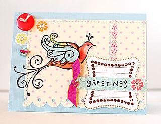 Greetings Birdie Card