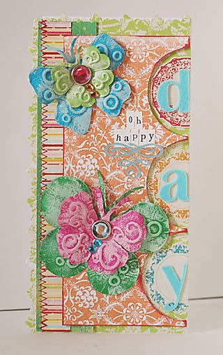 Oh Happy Day Butterfly Card