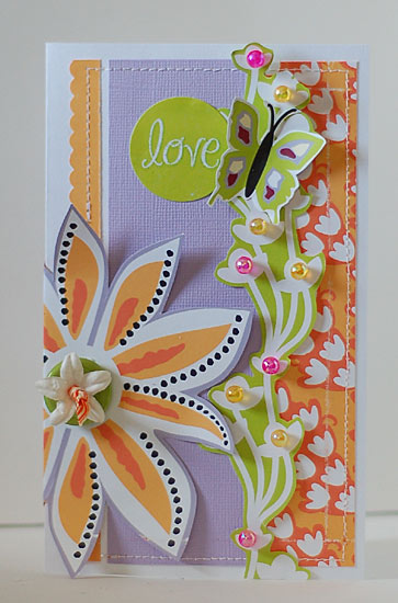 Love Butterfly and Beads Card