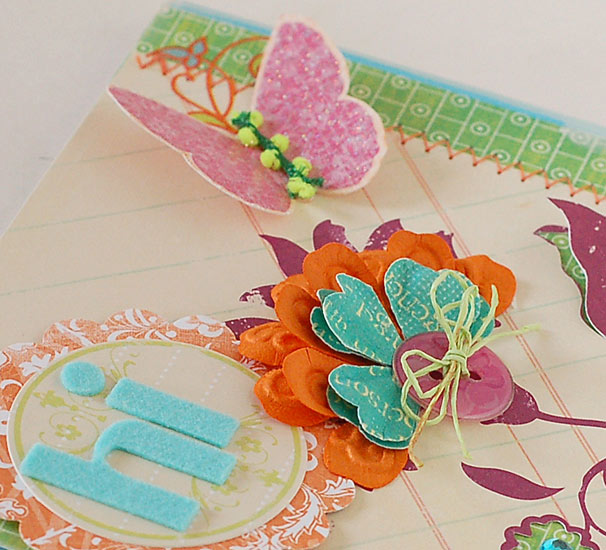 Betsy Veldman - Hi Butterfly Card - Detail