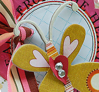 From the Heart Butterfly Card-Detail