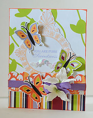 Pure Sweetness Butterfly Card