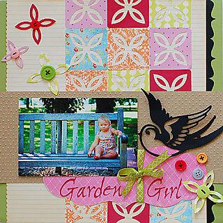 Garden Girl Layout