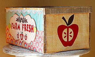 Farm Fresh Apple Box-Side View