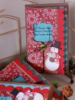 Snowman cocoa wraps