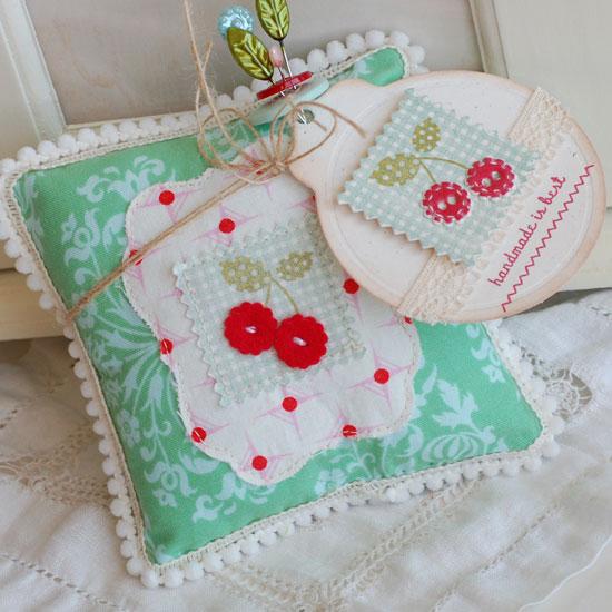 Cherry-Button-Pillow