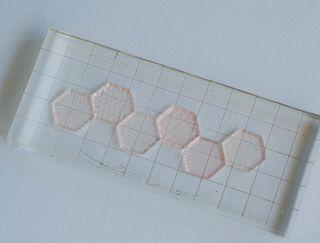 Hexagon-stamps