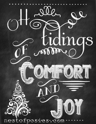 Tidings of Comfort and Joy nestofposies