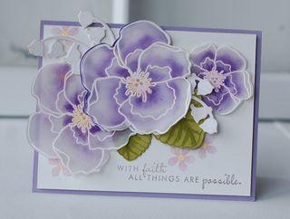 Violets--Card