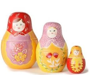 Matryoshka measuring cups
