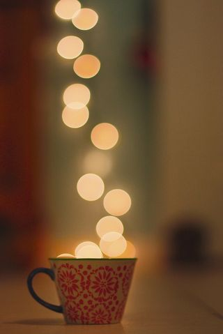 Cup bokeh