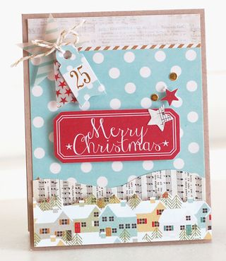 Snow-Village-Houses-Card