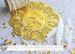 Luxe Letterpress embellishments