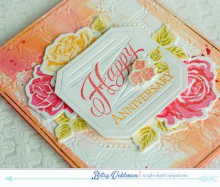 Luxe letterpress roses dtl