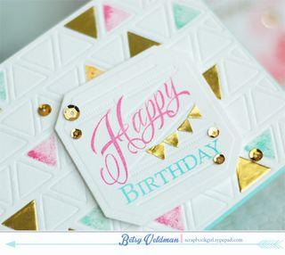 Happy Birthday Triangles dtl