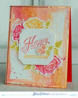 Luxe letterpress roses