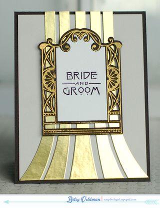 Gatsy bride groom