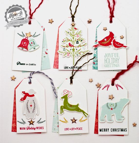 Christmas Gift Tag Folk Stamp